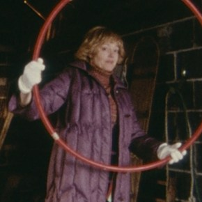 Diane Polley with hula hoop