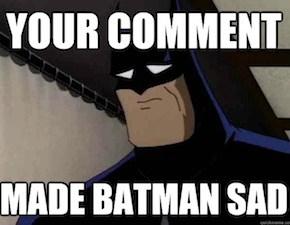 Confessions of a Sad, Tweeting Batman On Word-Porn
