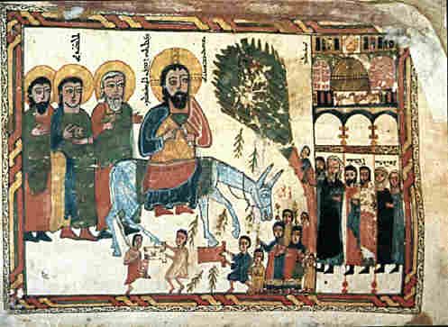 syriac triumphal entry icon