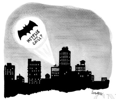 benjamin-schwartz-the-bat-signal-says-netflix-and-chill-new-yorker-cartoon