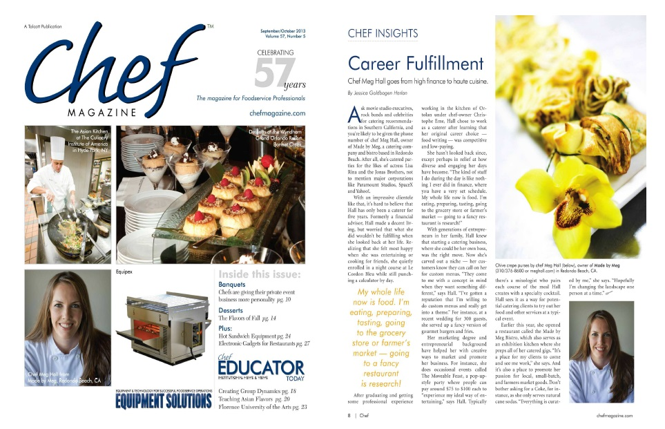 Chef Magazine Two Page