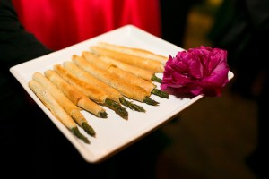 Asparagus wrapped in phyllo | Catered by Made By Meg