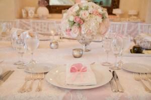 Baptism table setting