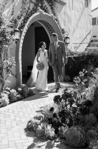 Bride and Groom at Point Vicente Interpretive Center