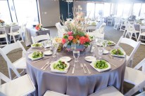 Wedding Reception Table Setting at Point Vicente Interpretive Center