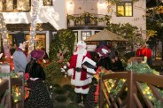 Outdoor Christmas Scene with Carolers