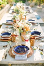 Boho Family Style Wedding Reception Shoot