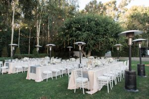 Outdoor Wedding Reception at Malibu Rocky Oaks