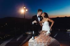 Bride and Groom Toasting at Malibu Rocky Oaks