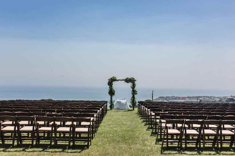 Catalina View Gardens Outdoor Wedding Ceremony Area | Catered by Made By Meg
