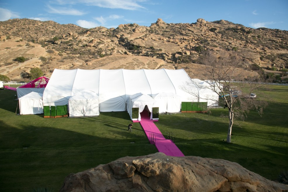 Outdoor Tent at Hummingbird Nest Ranch Wedding | Made By Meg Catering