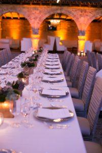 Table Setting at Hummingbird Nest Ranch Wedding