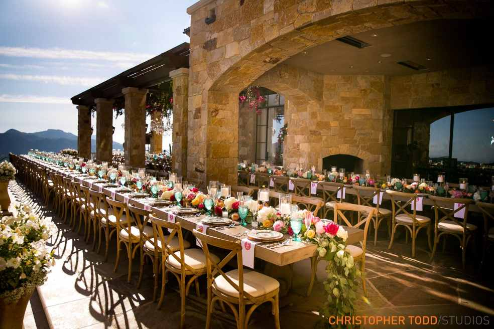 Outdoor Reception Area at Malibu Rocky Oaks Wedding | Catered by Made By Meg