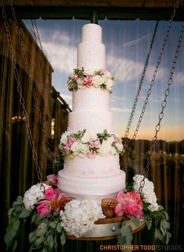 Wedding Cake at Malibu Rocky Oaks Wedding | Catered by Made By Meg