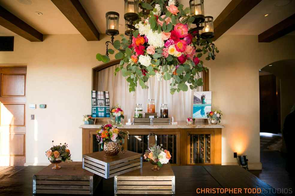 Indoor Drink Station at Malibu Rocky Oaks Wedding | Catered by Made By Meg