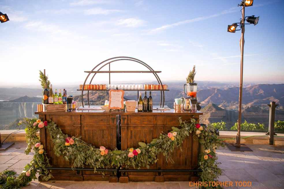 Bar Station at Malibu Rocky Oaks Wedding | Catered by Made By Meg
