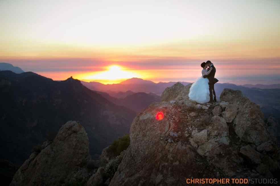 Bride and Groom at Malibu Rocky Oaks | Catered by Made By Meg
