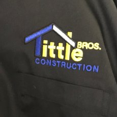 Tittle Brothers Construction Logo on Shirt