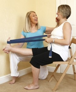 physiotherapy with patient