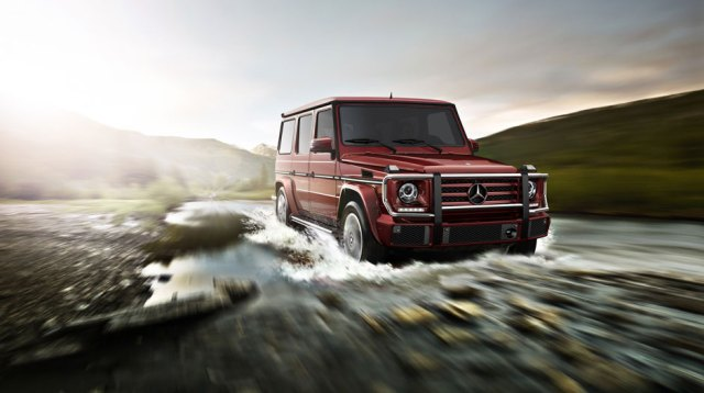 in Storm Red metallic with standard grille guard