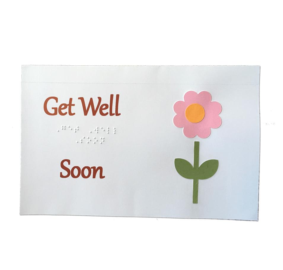 Get Well Card Flower
