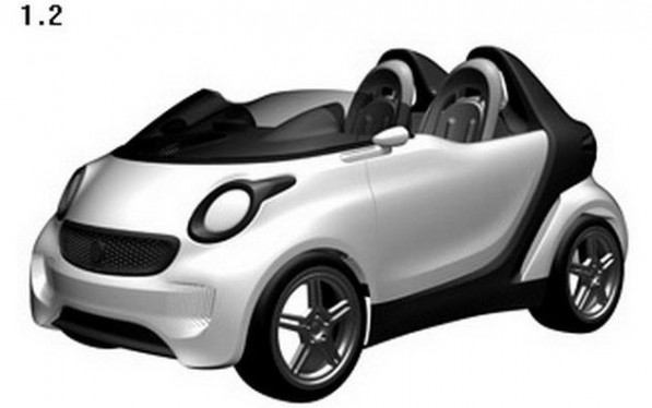 smart roadster1 597x374 Drawing Submissions Leak To Reveal Smart Roadster Design
