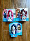 NIP Spin Master Liv Doll Wigs Hair Hot Pink Burgundy Red Blue Lot of 3