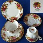 Royal Albert England OLD COUNTRY ROSES Trio Teacup+Saucer+6 Bread Plate EUC