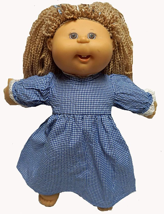 Cabbage Patch Doll Clothe Blue Dress with Pinafore