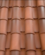 Corona Tapered two piece clay roof tile, B220 Madrid Blend.