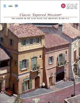 Download Classic Tapered Mission 2-piece clay roof tile Catalog