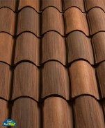 Classic S Mission clay roof tile, B2F45-MSCXL Tierra Brown Extra Light Blend.