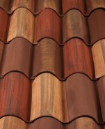 Classic S Mission clay roof tile, CB389-SC Marco Blend.