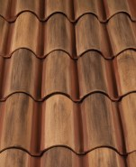 Classic S Mission clay roof tile, F46-SSC Veneto Diores Blend.