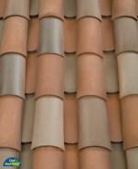 Corona Tapered two piece clay roof tile, B351 San Ramon Blend.