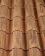 Corona Tapered two piece clay roof tile,  F46-SSC Veneto Diores Blend.