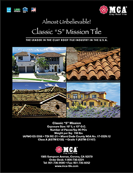 Classic S Mission clay roof tile new brochure cover
