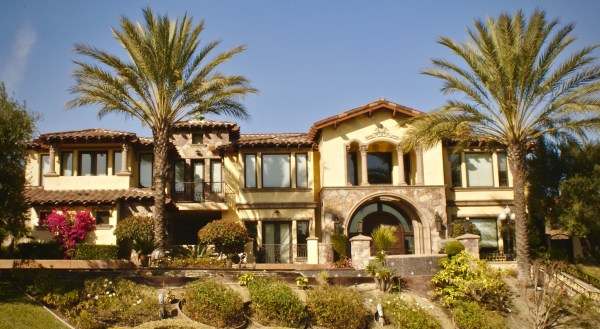 """One Piece """"S"""" Mission Clay Roof Tile in 80% Old Barcelona Blend and 20% B220 Madrid Blend - Home in Chino Hills, CA"""
