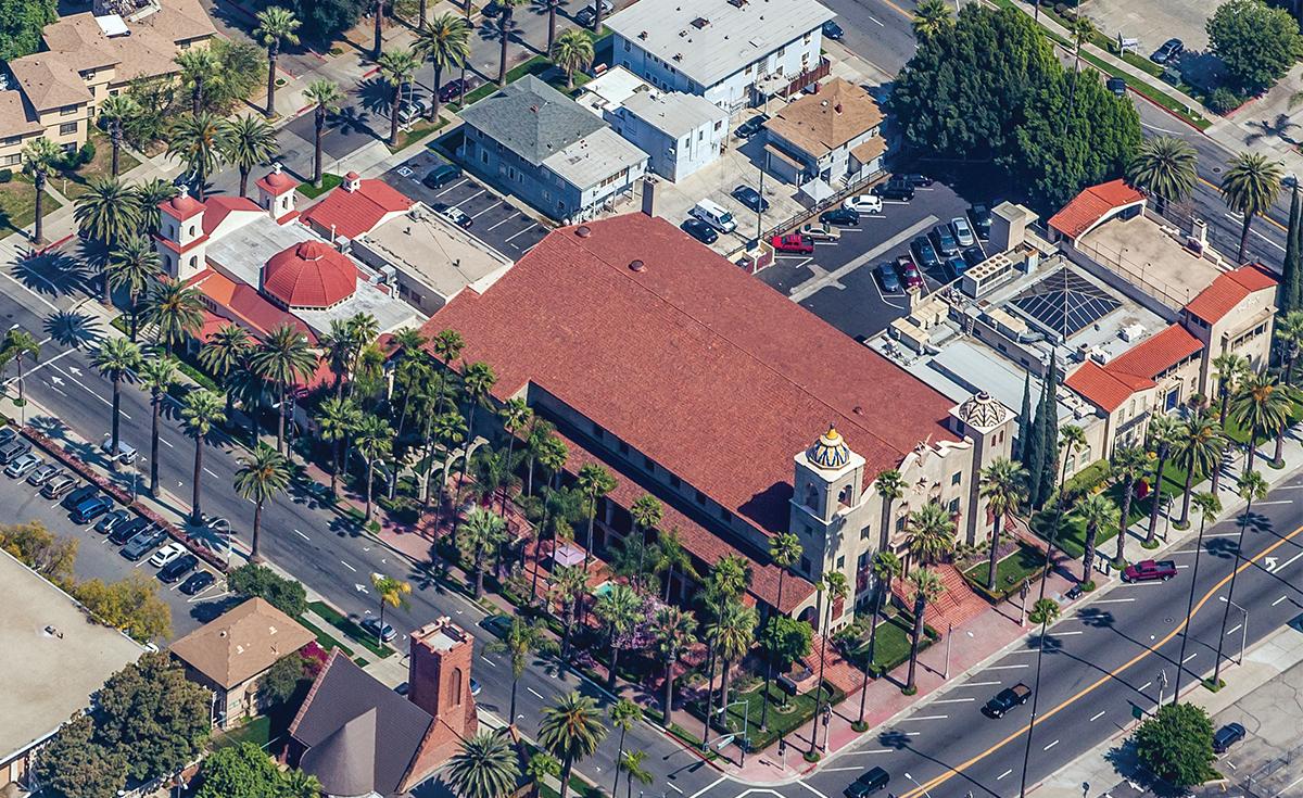 Riverside Municipal Auditorium historical clay roof tile in Riverside, CA