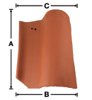 SB03 Old LA Brick Baby S Right Gable historical clay roof tile