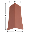 VB02 90 Degree V Ridge Tile historical clay roof