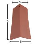 VB02 90 Degree V Ridge Tile historical clay roof
