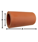 Clay Pipe Air Vent 10 inches long in natural red terra cotta