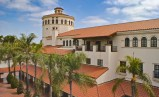 Top story view of Santa Ana Train Depot, Santa Ana, CA featuring One Piece S Mission Spanish style clay roof tile in F40 Natural Red