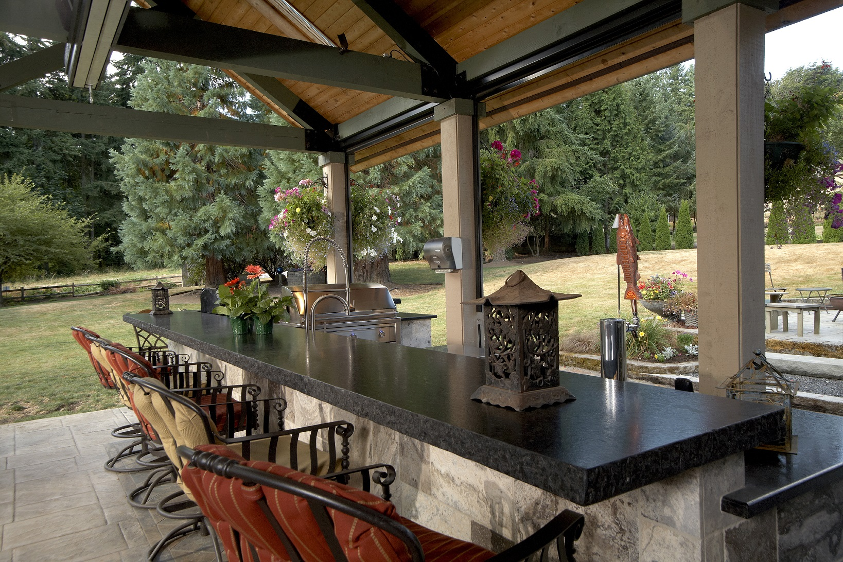 Large Covered Outdoor Living Space Remodel - McAdams ... on Garden Living Space id=62570