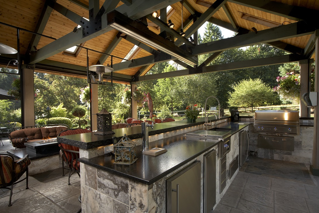 Large Covered Outdoor Living Space Remodel - McAdams ... on Garden Living Space id=90541