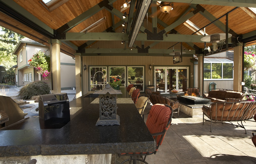Large Covered Outdoor Living Space Remodel - McAdams ... on Vision Outdoor Living id=91975
