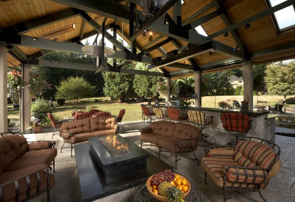 outdoor patio living space Large Covered Outdoor Living Space Remodel - McAdams