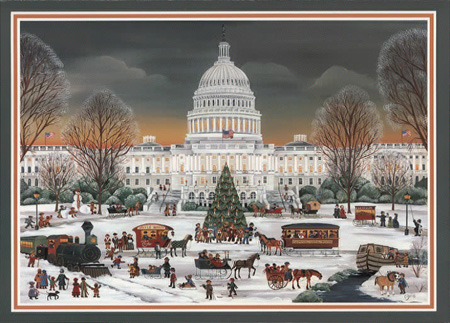Carol Dyer Washington DC Christmas Cards And Note Cards