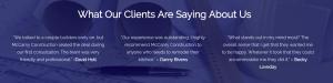 McCamy Construction Homeowner Testimonials